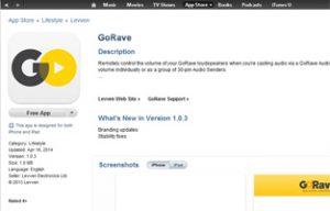 GoRave app on itunes: screenshot
