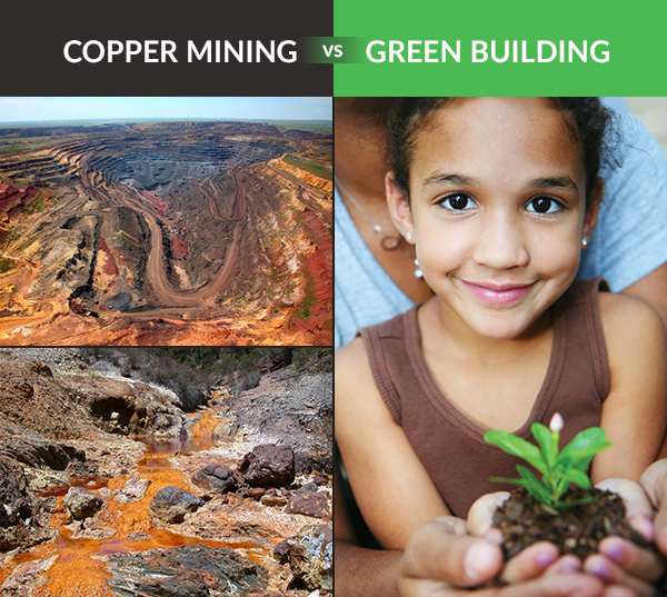 Conserving copper wire materials in green home construction