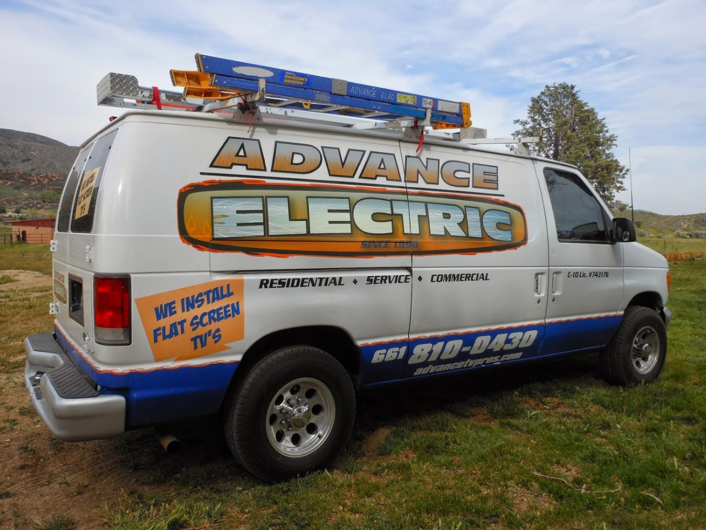 advance electric service van
