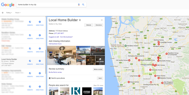 google-maps-business-listings-selling-new-homes