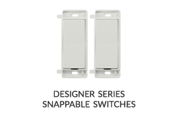 designer series snappable smart light switch image