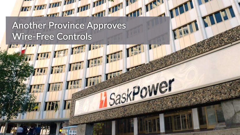 Image of SaskPower building - wireless electrical switch approved