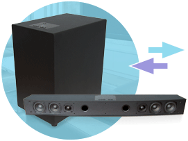 wireless-sound-system: sound bars and subwoofers