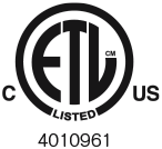 ETL mark - logo for building electrical safety code compliance